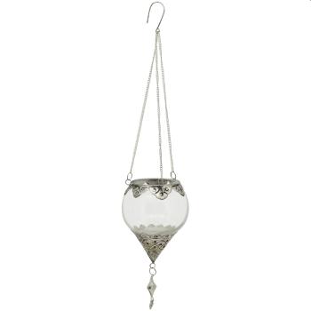 WindLichtHänger Iride, Glas/Metall, 11x11x15 cm