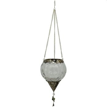WindLichtHänger Iride, Glas/Metall, 13x13x17 cm